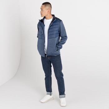 Jenson Button Kollektion - Narrative II Hybrid-Sweatshirt mit Kapuze für Herren  Blau