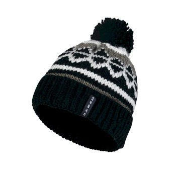 Dare2b Men's Strike It Bobble Beanie Hat Black White