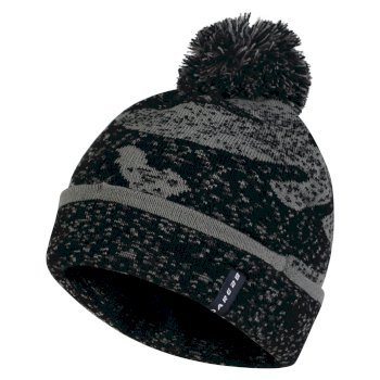 Dare2b Men's No Haste Bobble Beanie Hat Black Asteroid Grey