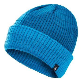 Dare 2b Men's On The Ball II Fleece Lined Ribbed Beanie - Petrol Blue Methyl Blue