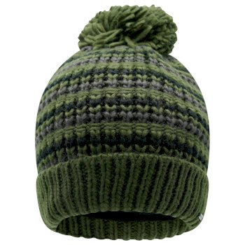 Dare 2b Men's Mind Over II Fleece Lined Knit Bobble Beanie - Deep Depths Khaki Black
