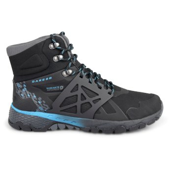 Men's Ridgeback Mid Hiking Boots Black/Fluro Blue