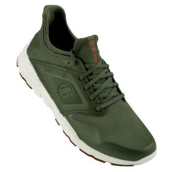 Rebo Herren-Sportschuh Olive Shock Orange