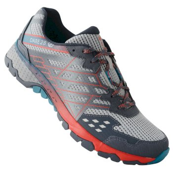Herren Razor II Shock Absorbing Trainer Gravity Grey Fiery Red