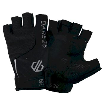 Dare 2b Men's Mens Forcible Fingerless Cycling Gloves - Black