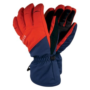 Hold On - Herren Skihandschuhe mit Stretch Admiral Blue Fiery Red
