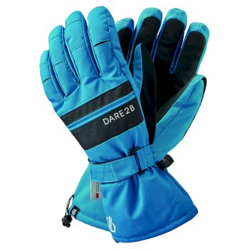 Dare 2b Men's Hold On II Waterproof Insulated Ski Gloves - Petrol Blue Black