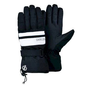 Dare 2b Men's Hold On II Waterproof Insulated Ski Gloves - Black White