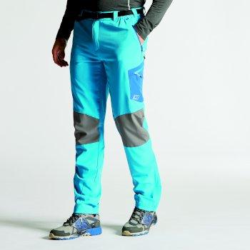 Men's Paradigm Softshell Hiking Trousers Fluro Blue