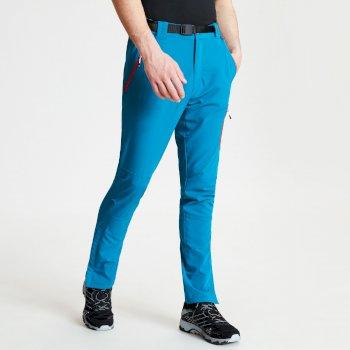 Disport leichte Herren-Wanderhose mit vielen Taschen blaugrün