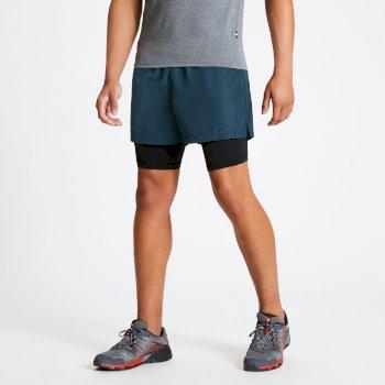 Recreate schnell trocknende Fitnessshorts für Herren Blau