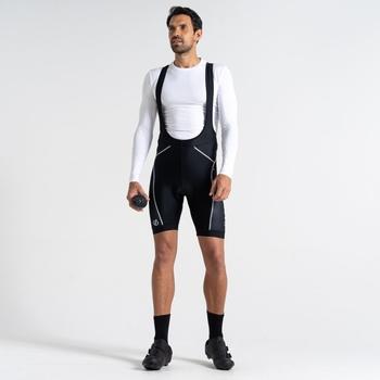 Ecliptic Leichte Gel-Fahrradshorts Mit Trägern Für Herren Schwarz