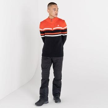 Outgoing Sweatshirt mit halblangem Reißverschluss für Herren Orange