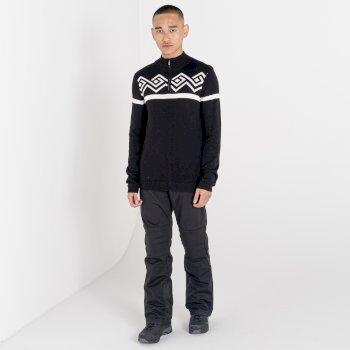 Outgoing Sweatshirt mit halblangem Reißverschluss für Herren Schwarz