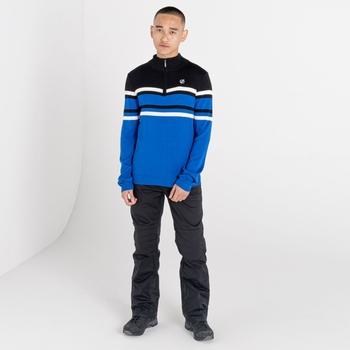 Outgoing Sweatshirt mit halblangem Reißverschluss für Herren Blau