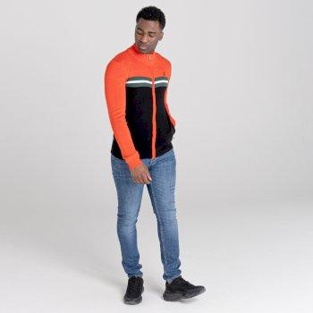 Dutiful Sweatshirt mit durchgehendem Reißverschluss  Orange