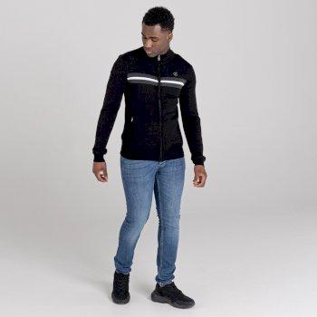 Dutiful Sweatshirt mit durchgehendem Reißverschluss  Schwarz