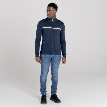 Dutiful Sweatshirt mit durchgehendem Reißverschluss  Blau