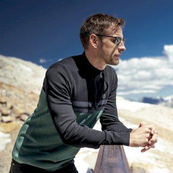 Jenson Button Kollektion - Dutiful Sweatshirt mit halblangem Reißverschluss für Herren Grau