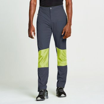 Men's Append Softshell Hybrid Trousers Outerspace Blue Lime