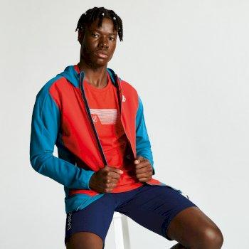 Appertain II leichte Softshell-Jacke für Herren rot-blaugrün