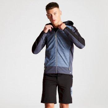 Appertain II leichte Softshell-Jacke für Herren blaugrau-schwarz