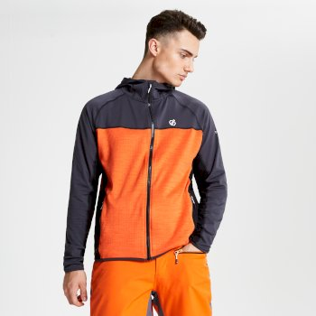 Ratified - Herren Stretchjacke - Kapuze Ebony Clemetine Orange Black