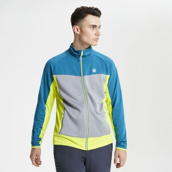 Riform leichtes Core Stretch-Midlayer für Herren Ocean Depths Cloudy Grey Citron Lime