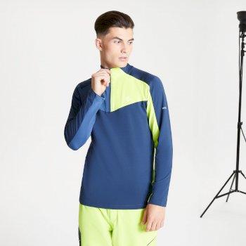 Depose Core Stretch-Midlayer mit halblangem Reißverschluss für Herren Blau