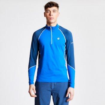 Interfused Core - Herren Stretch-Shirt - Reißverschluss Oxfordblau/Admiralblau