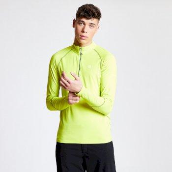 Interfused Core - Herren Stretch-Shirt - Reißverschluss Limone