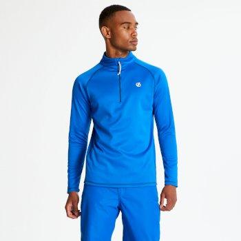 Fuse Up Core - Herren Stretch-Langarmshirt - Reißverschluss Oxford Blue