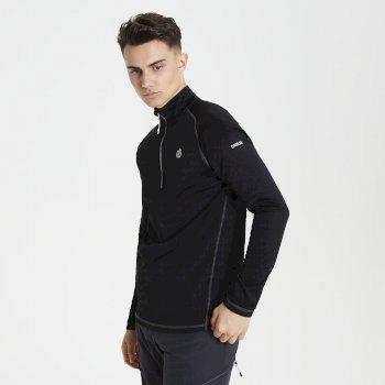 Fuse Up Core - Herren Stretch-Langarmshirt - Reißverschluss Black