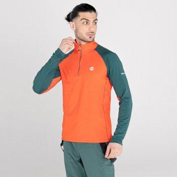 Interfused II leichter Core Stretch-Midlayer mit halblangem Reißverschluss für Herren Orange