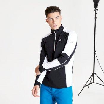 Out Right Black Label leichter Core Stretch-Midlayer mit halblangem Reißverschluss für Herren Schwarz