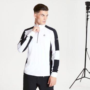Out Right Black Label leichter Core Stretch-Midlayer mit halblangem Reißverschluss für Herren Weiß