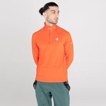 Fuse Up II leichter Core Stretch-Midlayer mit halblangem Reißverschluss für Herren Orange