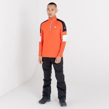 Outstand Core Stretch-Midlayer mit halblangem Reißverschluss für Herren Orange