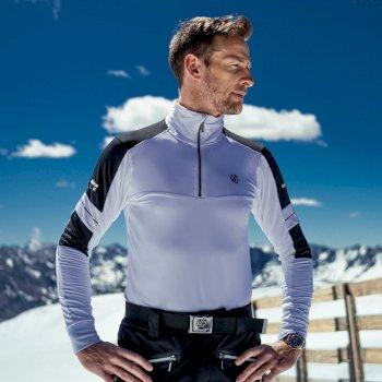 Outstand Core Stretch-Midlayer mit halblangem Reißverschluss für Herren Weiß