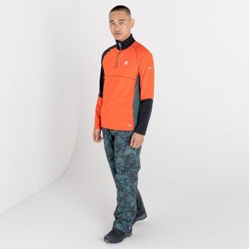 Dignify Core Stretch-Midlayer mit halblangem Reißverschluss für Herren Orange