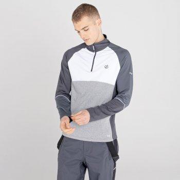 Dignify Core Stretch-Midlayer mit halblangem Reißverschluss für Herren Weiß