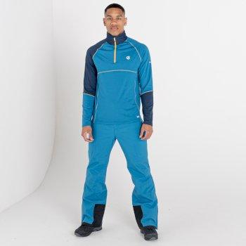 Dignify Core Stretch-Midlayer mit halblangem Reißverschluss für Herren Blau