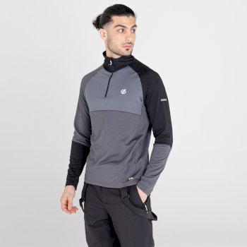 Dignify Core Stretch-Midlayer mit halblangem Reißverschluss für Herren Grau