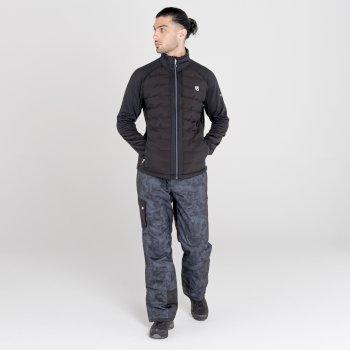 Honour Hybrid-Baffle-Sweatshirt für Herren Schwarz