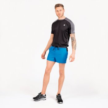 Dare 2b The Jenson Button Edit - Cascade Lightweight Shorts - Petrol Blue Ebony Grey