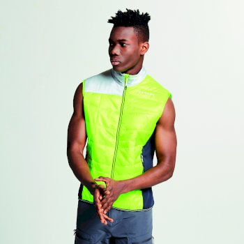 Dare 2b Men's Systematic Wool Insulated Gilet - Electric Lime Outerspace Blue