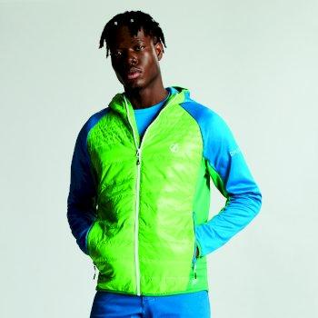 Mountfusion gesteppte Woll-Hybrid-Jacke für Herren grün-petrol
