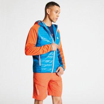 Mountfusion gesteppte Woll-Hybrid-Jacke für Herren blau-orange