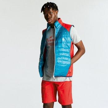 Mountfusion gesteppte Woll-Hybrid-Jacke für Herren blaugrün-rot