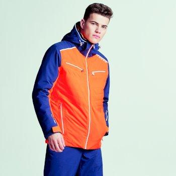 Mutate Pro Herren-Skijacke Vibrant Orange Outerspace Blau